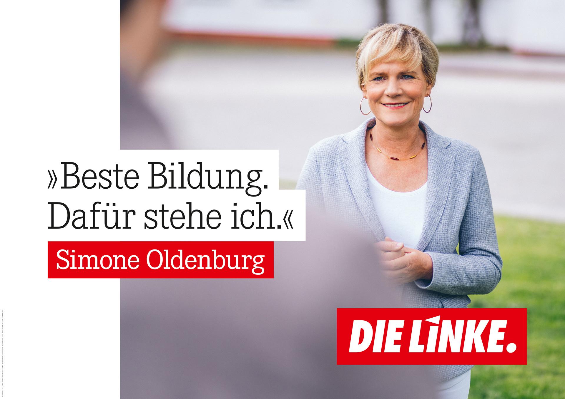 Beste Bildung. Dafür stehe ich. Simone Oldenburg